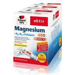 Doppelherz Aktiv Magnezij 400 + B6 + B12 + folna kislina - Direkt Multipack, vrečka