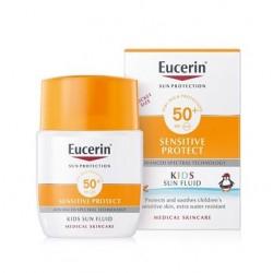 Eucerin Sun Sensitive Protect, fluid za zaščito otroške kože - ZF 50+
