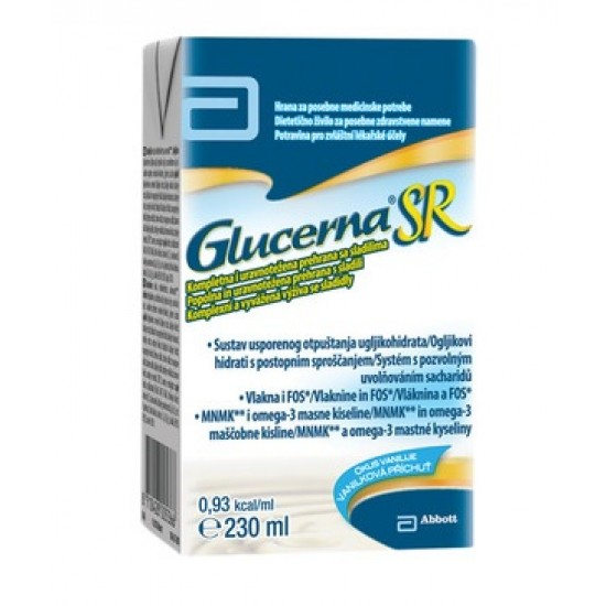 Glucerna SR, okus vanilije Prehrana in dopolnila