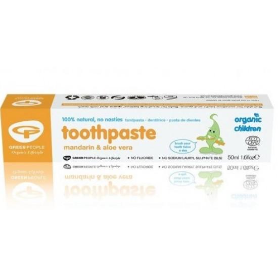 Green People, otroška zobna pasta z mandarino Pripomočki in zaščita