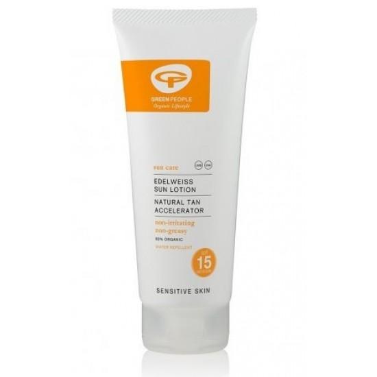 Green People, losjon za sončenje in hitrejšo porjavitev telesa z ZF15 Kozmetika