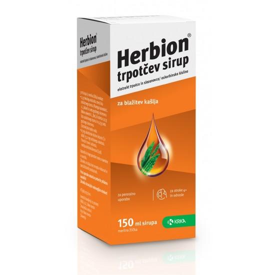 Herbion trpotčev sirup Zdravila brez recepta