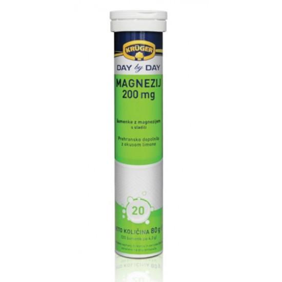 Kruger Day by Day, Magnezij 200 mg, šumeče tablete Prehrana in dopolnila