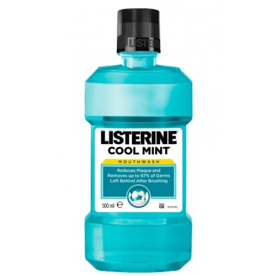 Listerine Cool Mint, ustna voda Pripomočki in zaščita