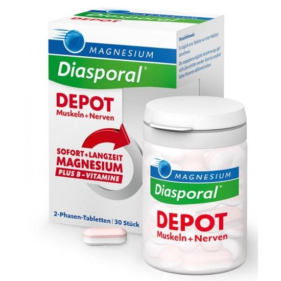 Magnesium - Diasporal Depot, tablete Prehrana in dopolnila
