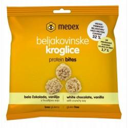 Medex Beljakovinske kroglice - bela čokolada, vanilija