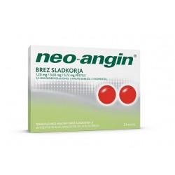 Neo-angin brez sladkorja, pastile