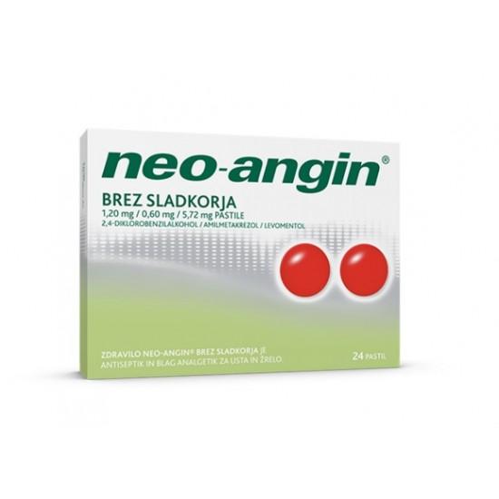 Neo-angin brez sladkorja, pastile Zdravila brez recepta