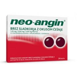 Neo-angin brez sladkorja, pastile z okusom češnje