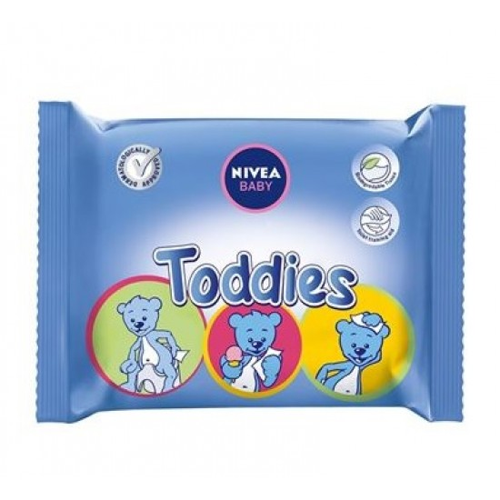 Nivea Toddies, večnamenski vlažni robčki v vrečki Kozmetika