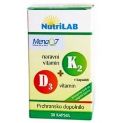Nutrilab Naravni vitamin K2 + D3, kapsule