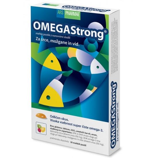 OmegaStrong, mehke pastile z okusom jagode, limete in limone Prehrana in dopolnila