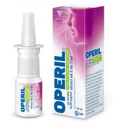 Operil 0,25 mg/ml, pršilo za nos - za otroke, 10 ml