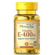 Puritans Pride Naravni vitamin E 400 I.E, mehke kapsule