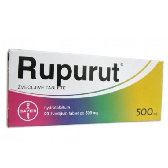 Rupurut, 20 žvečljivih tablet Zdravila brez recepta