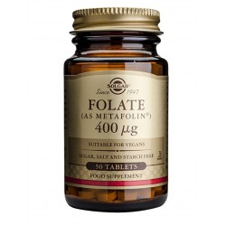 Solgar Folat 400 mcg, tablete