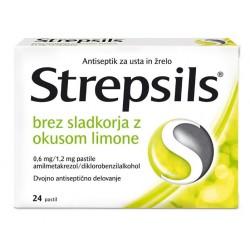 Strepsils brez sladkorja, pastile z okusom limone