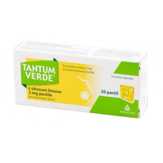 Tantum Verde z okusom limone, pastile Zdravila brez recepta