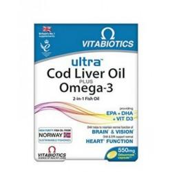 Ultra 2-in-1 Cod liver oil plus Omega-3, kapsule