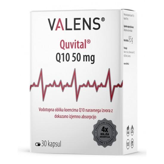 Valens Quvital Q10 50 mg, kapsule Prehrana in dopolnila