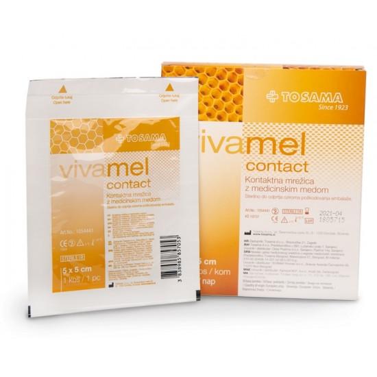 Vivamel, kontaktna mrežica z medicinskim medom 5 x 5 cm Pripomočki in zaščita
