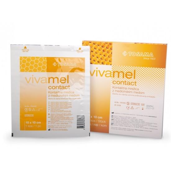 Vivamel, kontaktna mrežica z medicinskim medom 10 x 10 cm Pripomočki in zaščita