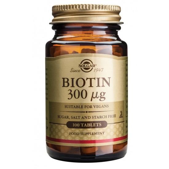 Solgar Biotin 300 μg, tablete Prehrana in dopolnila
