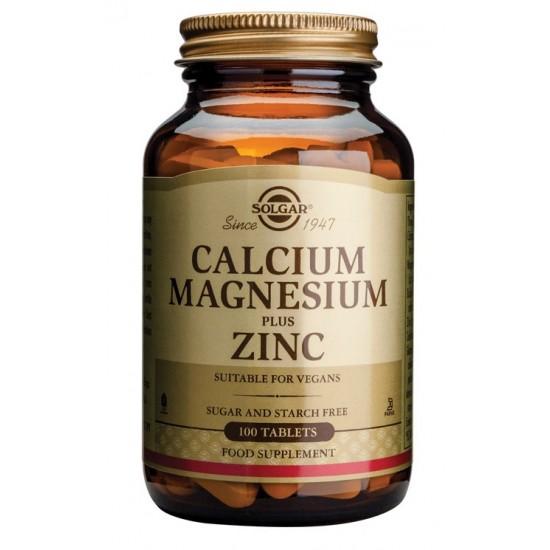Solgar Kalcij, Magnezij, plus Cink, tablete Prehrana in dopolnila