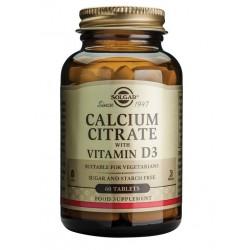 Solgar Kalcijev citrat z dodanim vitaminom D, tablete