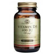Solgar Vitamin D3 10 μg, kapsule