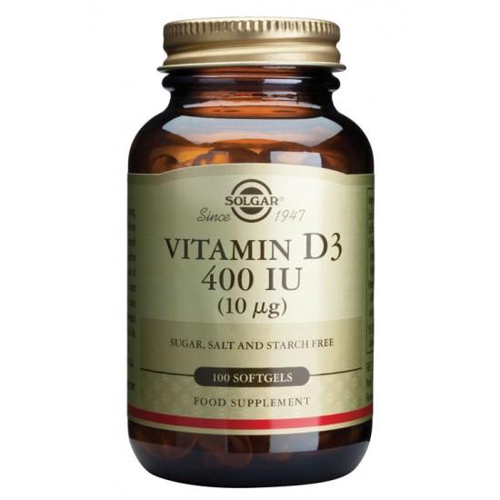 Solgar Vitamin D3 10 μg, kapsule Prehrana in dopolnila