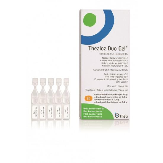 Thealoz duo gel enoodmerni vsebnik 30 x 0,4 g, kapljice za oko  Pripomočki in zaščita