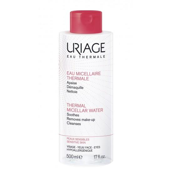 Uriage termalna micelarna voda za čiščenje občutljive kože nagnjene k rdečici - 500 ml Kozmetika
