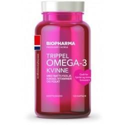 Biopharma Trippel Omega-3 Kvinne, kapsule