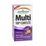 Jamieson Multivitamini in minerali za odrasli, žvečljive tablete