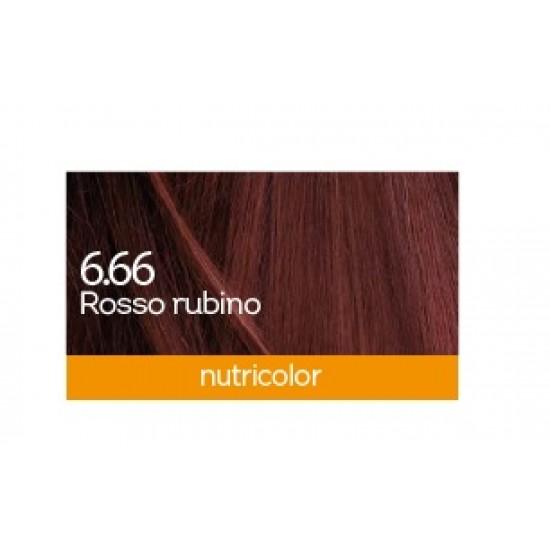 Biokap Nutricolor 6.66, barva za lase  - rubinasto rdeča Kozmetika