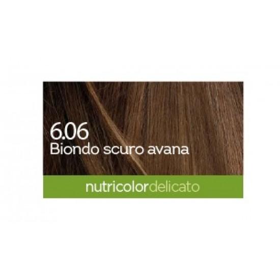 Biokap Nutricolor Delicato 6.06, barva za lase  - temno tobak blond Kozmetika
