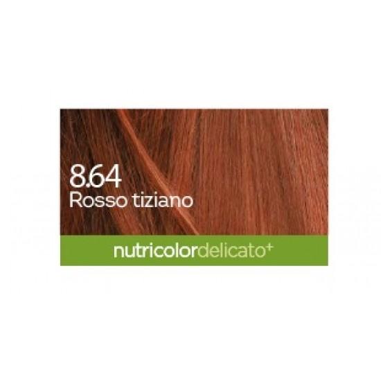 Biokap Nutricolor Delicato Plus 8.64, barva za lase - ticijan rdeča Kozmetika