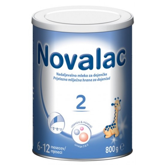 Novalac 2, nadaljevalno mleko za dojenčke 6-12 mesecev, 800 g Prehrana in dopolnila