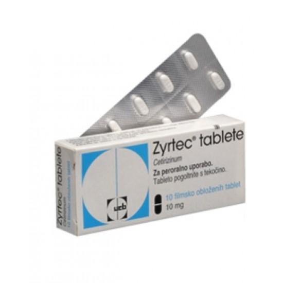 Zyrtec, filmsko obložene tablete Zdravila brez recepta