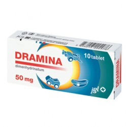 Dramina 50 mg, 10 tablet