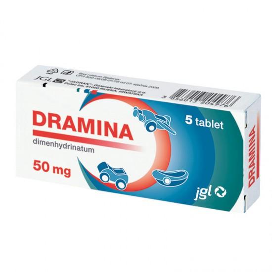 Dramina 50 mg, 5 tablet Zdravila brez recepta