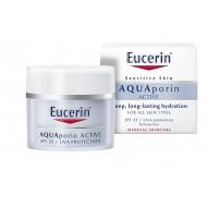 Eucerin AQUAporin Active, vlažilna nega z UV-zaščito za vse tipe kože