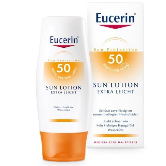 Eucerin Sun, ekstra lahek losjon za zaščito pred soncem ZF 50+ Kozmetika