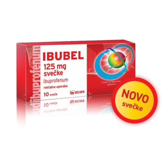 Ibubel 125 mg svečke Zdravila brez recepta