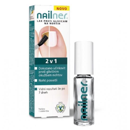 Nailner lak proti glivicam na nohtih 2 v 1 Pripomočki in zaščita