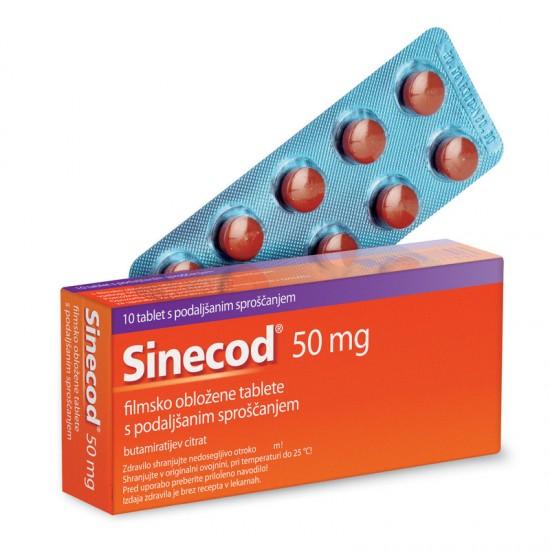 Sinecod, filmsko obložene tablete Zdravila brez recepta