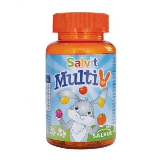 Salvit MultiV, žele bonboni z okusom pomaranče, limone in maline Prehrana in dopolnila