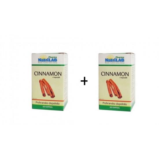 Nutrilab Cinnamon, kapsule + 1 gratis Prehrana in dopolnila