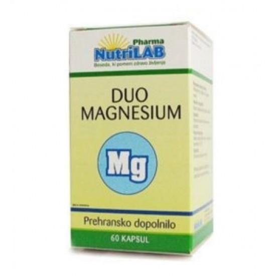Nutrilab Duo Magnesium, kapsule Prehrana in dopolnila